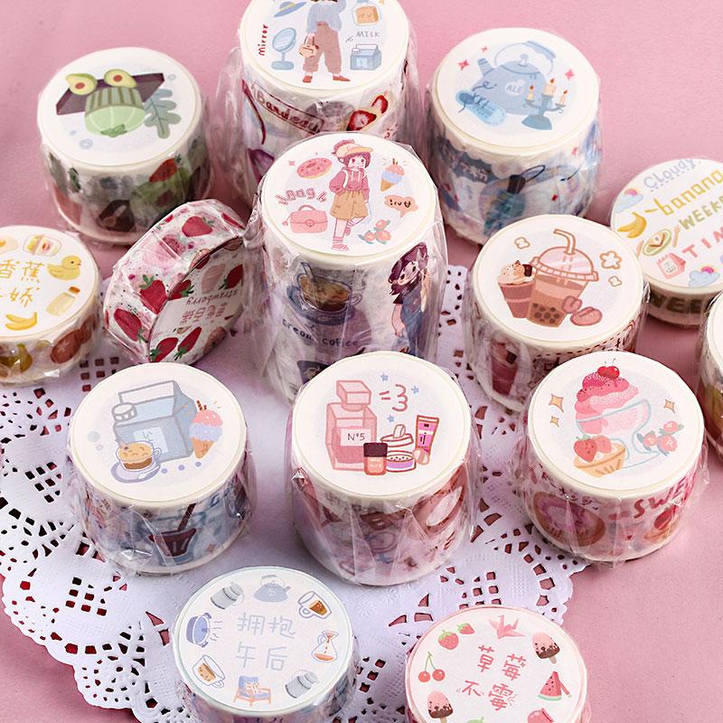 Chocolate Fruits Washi Tape Diy Decorative Scrapbooking Masking Tape Adhesive Label Sticker Tape Stationery