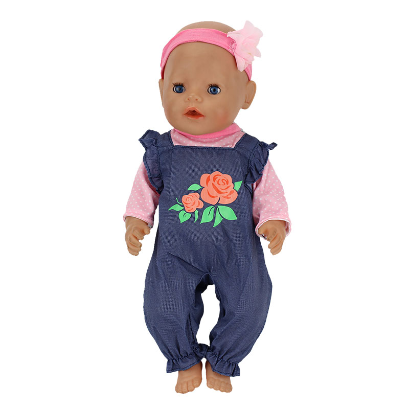 New Fashion Suit Clothes Fit For Born 43cm Doll Clothes Doll Accessories For 17inch Baby Doll
