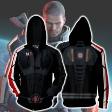 Game Mass Effect ME1 N7 Cosplay Anime Hoodie Costume Sweatshirt Jacket Coats Men