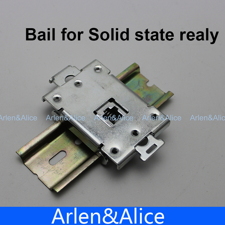 Bail B2 35mm din rail for Solid state Relay SSR 4 20ma to ac 28 280v 25a one phase 35mm din rail socket solid state relay