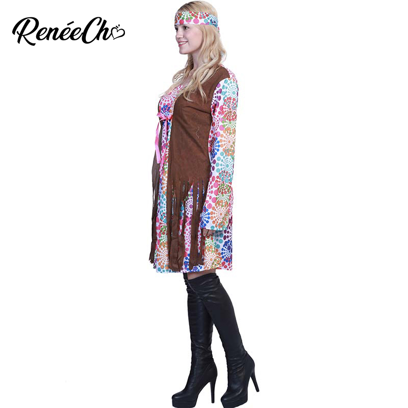 1960/'S RAINBOW PEACE HIPPIE EARRINGS womens ladies fancy dress accessory