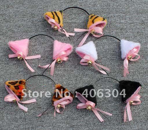 Животных ободок с ушками с колокольчиком вечерние украшения лица декоративные изделия Детский день представление MOQ: 20 шт