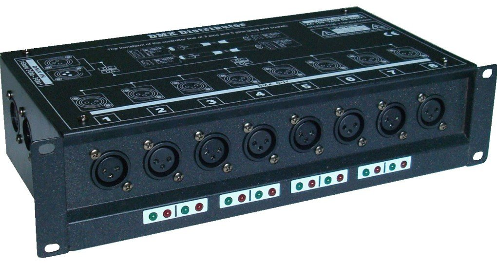 цены  DMX distributor with one input, 8 port output,SO 1307