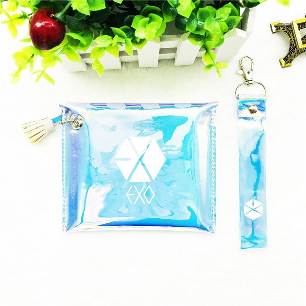 Beads & Jewelry Making Selfless Bangtan Boys Twice Exo Wanna One Got7 Handbag Cosmetic Bag Laser Colorful Yj052