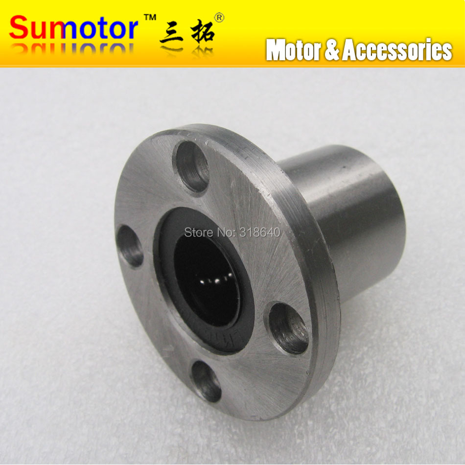 LMF16UU 16mm Round Flange Linear bushing motion ball bearing slide units CNC router CNC parts for linear guide rail rod shaft 5pcs lot lmk6luu 6mm square flange type linear motion bearing bushing ball bearing cnc parts for 6mm linear shaft