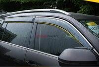 עבור פולקסווגן פולקסווגן אטלס Teramont 2017 אביזרי PU דפוס חיצוני הזרקת פלסטיק חלון מגן Vent שמש גשם משמר 4 יחידות