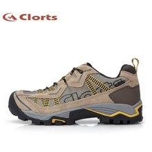 Clorts Trekking Shoes Man Outdoor Climbing Shoes Waterproof Mountain Shoes Suede Leather Man Footwear 3D026A/C