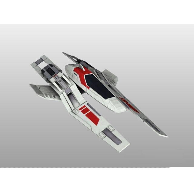 Mass Effect 3 Human Fighter Game 3D Paper Model DIY 34CM
