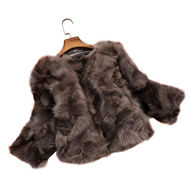 4 Hiver Cou Renard 7 Nouvelle Réel Manteaux 3 Style 4 Vestes 3 8 6 Fourrure Courtes 1 Femmes Naturel 5 2018 Manches Gt0160auk Mode De 2 O Automne 9 0nP8wXOk