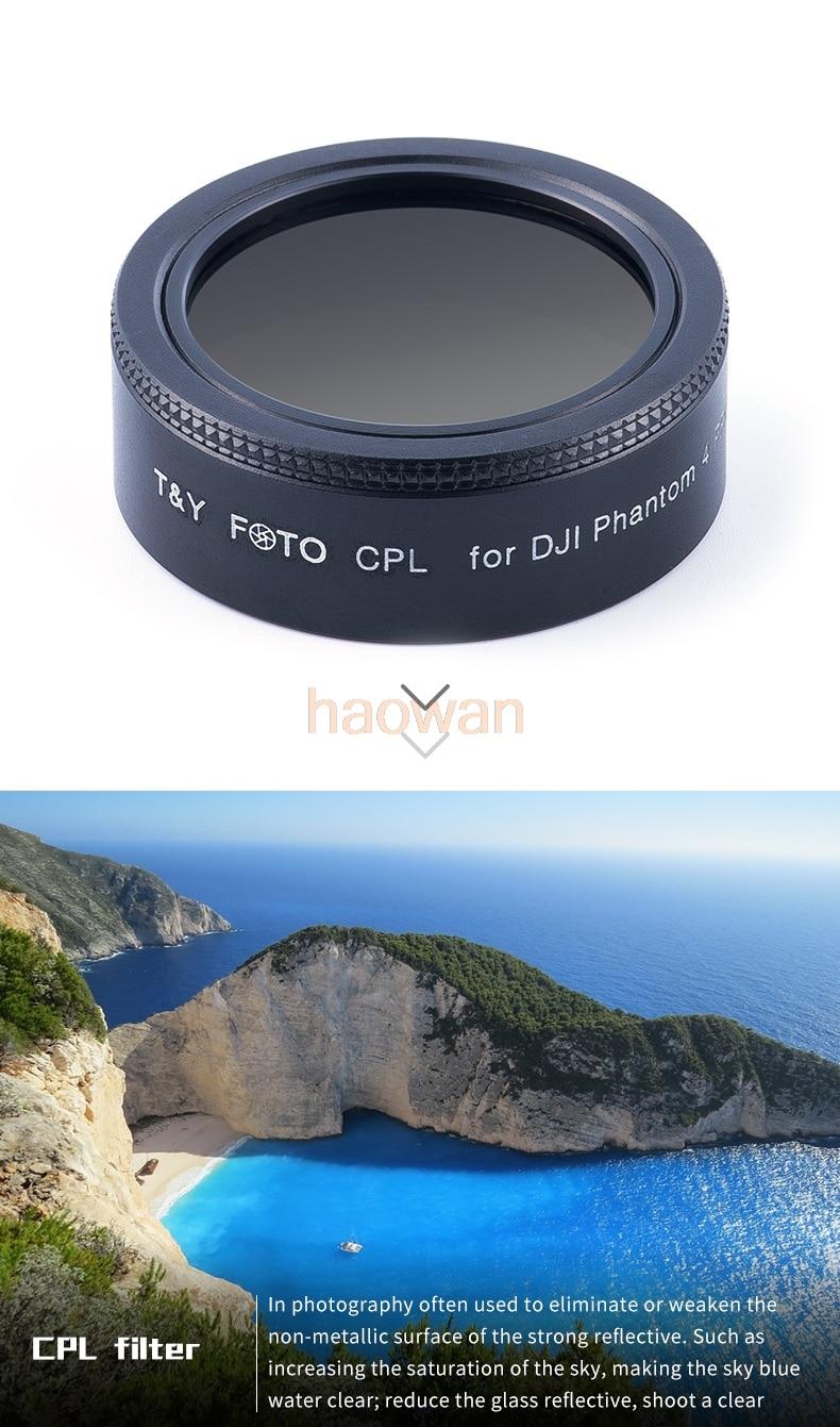 wtianya cpl+mcuv+ND2-ND400 Lens Filter Protector for DJI phantom 4 pro/advance camera