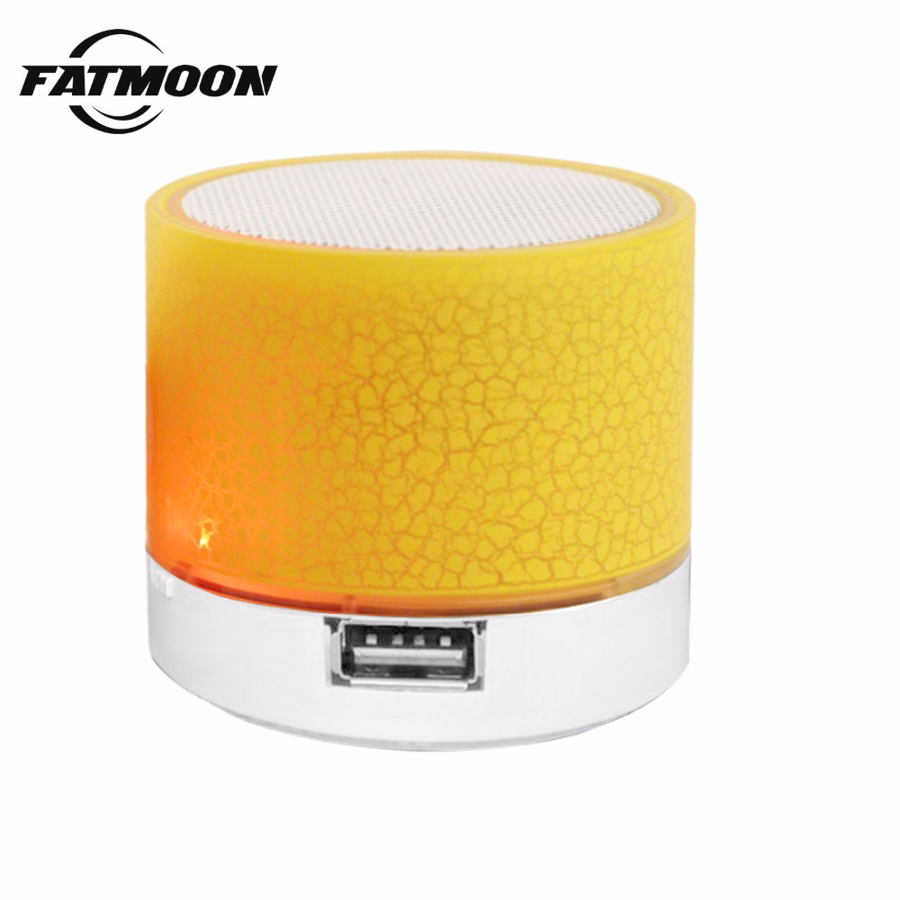FATMOON altavoces Mini altavoz Bluetooth Inalámbrico Portátil Inteligente LED Luminoso Altavoces mp3 player manos libres Para xiaomi iphone teléfono inteligente speaker altavoz-bluetooth usb barra de sonido