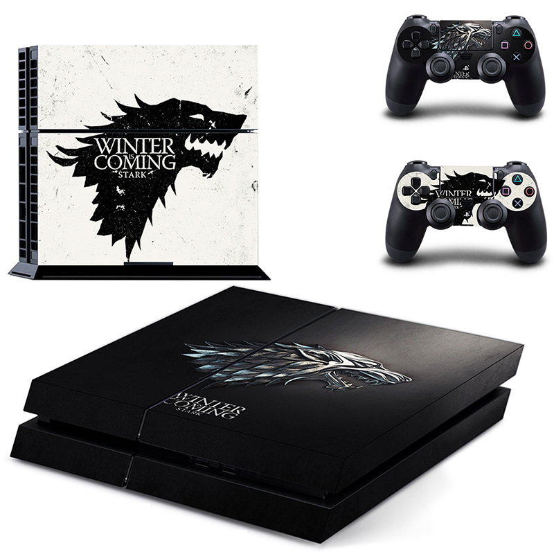HOMEREALLY Stickers PS4 Skin Classic Game Thrones Winter is Coming Stark Wrap For Sony PlayStation 4 Console and Controller-in Stickers from Consumer Electronics
