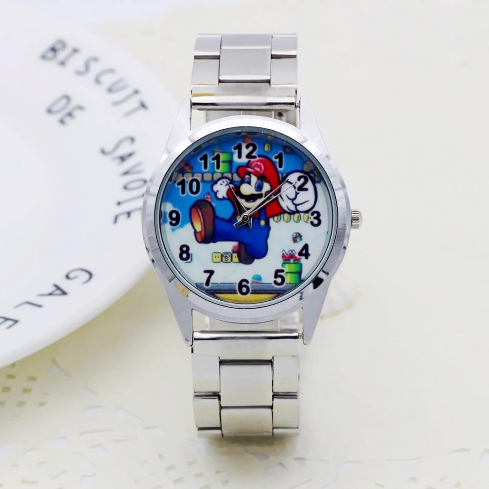 2019 Cute Cartoon Pretty Mario Style Children's Watches Women's Student Girls Boys Quartz Metal Steel Wrist Watch Clock