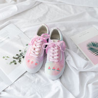 Pink Purple Girl Heart Dirty Shoes Hand painted Harajuku Small Dirty Shoes Tide Casual Shoes Women