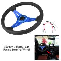 14 Inch 350mm Universal Racing Aluminum Frame Light PU Leather 6 Hole Modified Car Racing Steering