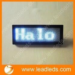 Biały oferta specjalna 44x11 kropki akumulator Led przewijanie odznaka nazwa  gorąca ruchu wyświetlacz tekstu wizytówki Tag w Oświetlenie reklamowe od Lampy i oświetlenie na