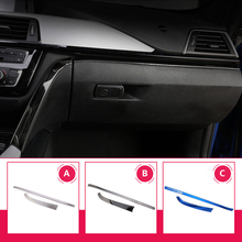 2 pcs Car styling interior Copilot Glove box handle decoration cover trim stainless steel Stickers For BMW 3 series F30 F34 LHD 2 pcs car styling interior copilot glove box handle decoration cover trim stainless steel stickers for bmw 3 series f30 f34 lhd