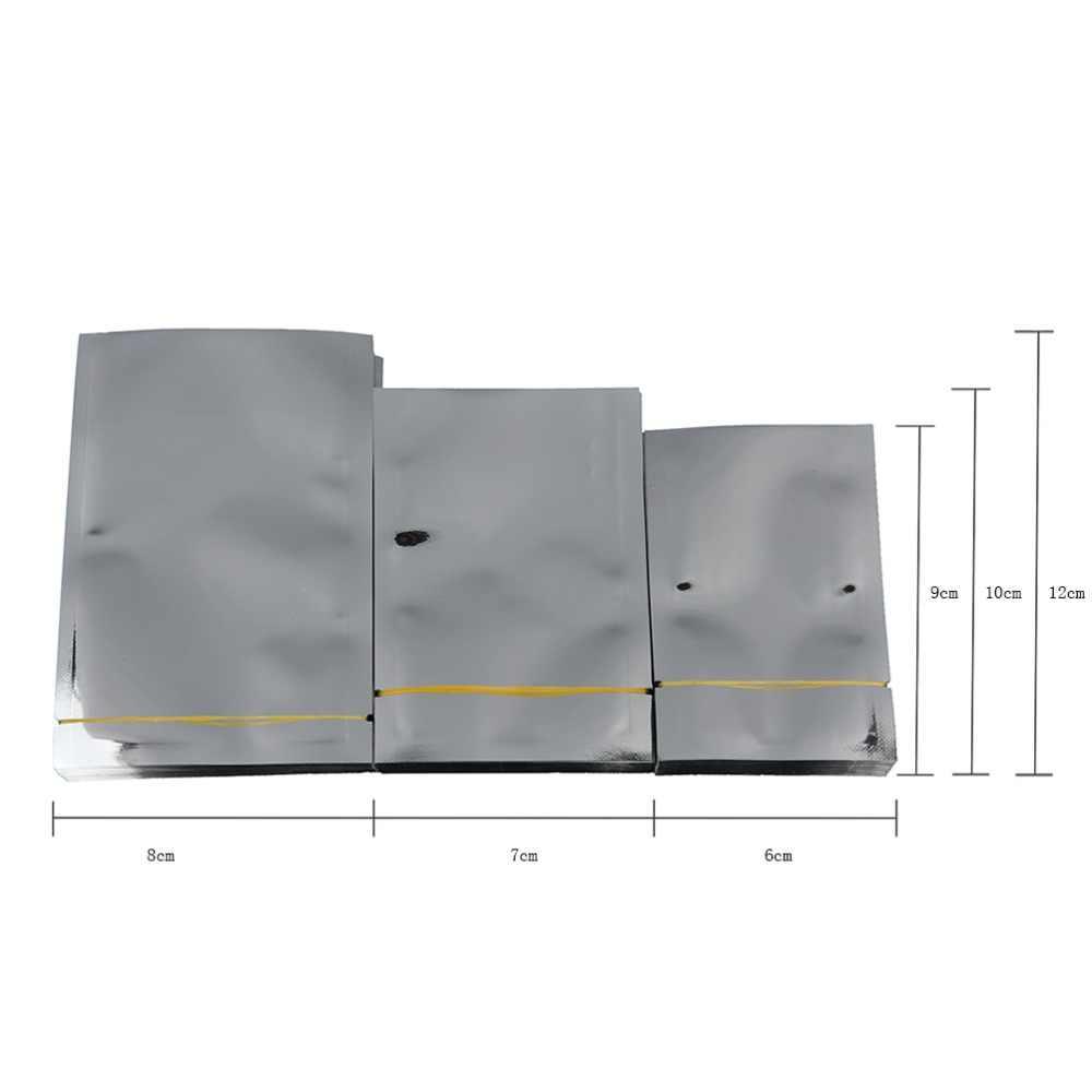 Vacuümzak Sealer Voedsel Opslag Pakket Zilver Aluminiumfolie Mylar Zak 100 Pcs Uitstekende Kwaliteit 7*10 cm