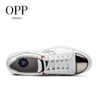 OPP New footwear 2017 Summer Mens Shoes Loafers For Men Cow Leather Flats Shoes Casual Sequins White Shoes Leather Loafers Man 3
