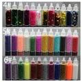 12 Unids/set 3d nail art decoraciones diamante perlas de lentejuelas hollow glitter gaza nail jewerly accesorios de manicura