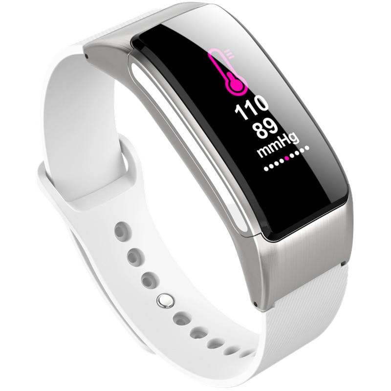 3 couleurs fitness bracelet bande parler bracelet activité tracker peut rejeter et répondre appel bluetooth casque pour huawei ios B31