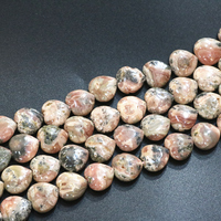 18mm Natural Multicolor Stripe Rhodochrosite Stone Heart Shape Wholesale Loose Beads For Jewelry Making Diy Finding 15inch B3284