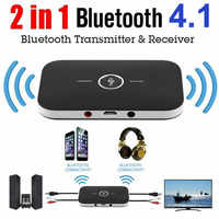 Alta fidelidade sem fio bluetooth 2 in1 áudio transmissor receptor 3.5mm rca música adaptador
