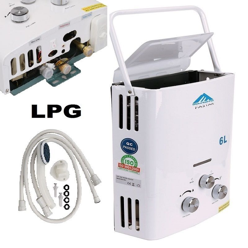 Spain shipping 6L Outdoor LPG Gas Water Heater 100 quality For Thermostatic Tankless Instant Bath Boiler