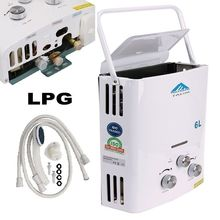Spain shipping!6L Outdoor LPG  Gas Water Heater 100% quality For Thermostatic Tankless Instant Bath Boiler Shower Head