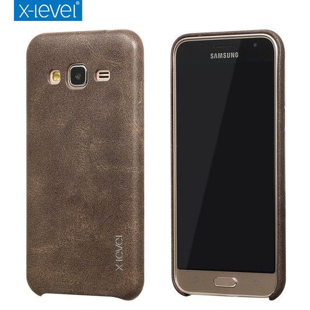 new style 708d3 ca4fb US $7.49 25% OFF|X Level Luxury Retro PU Leather Case for Samsung Galaxy J3  2016 j320 Back Case Cover for Samsung J3 6/J320F/J320A Vintage Cases-in ...