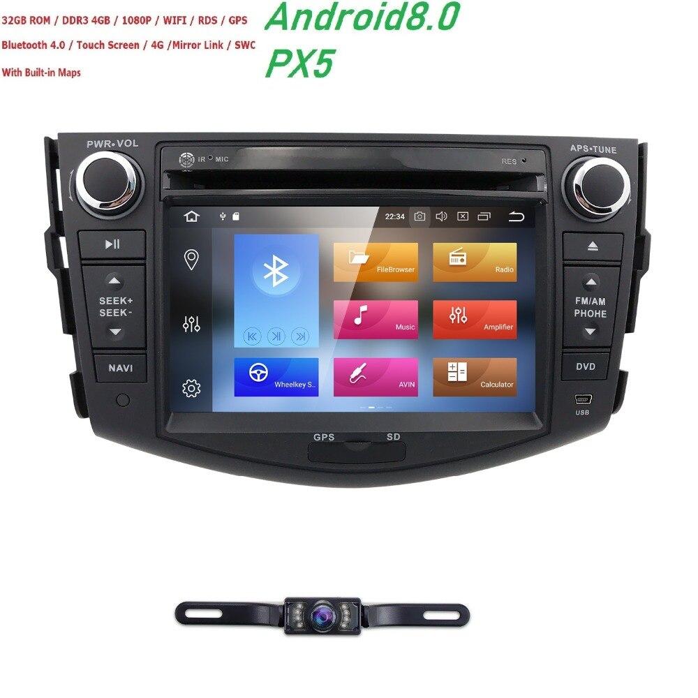 Hizpo AutoRadio 2 din Android 8.0 GPS DVD de Voiture Pour Toyota RAV 4 RAV4 2006 2007 2008 2009 210 2011 2012 Tête unité Multimédia 4 GO