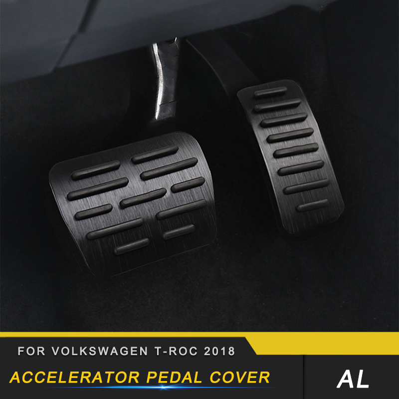 Auto Car styling Accelerator Pedal Frame Cover Trim Stickers Covers Interior Accessories for Volkswagen T ROC 2018|Car Stickers| |  - title=