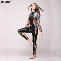 High Quality 3mm Women Neoprene Wetsuit Color Stitching Surf Diving Equipment Jellyfish Clothing Long Sleeved Piece