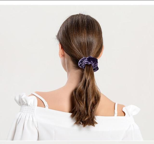 isnice women's winter velvet hair Scrunchies Hair Tie Hair Accessories Ponytail Holder Hair scrunchy Hot Sale ornament 1
