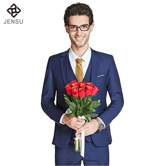 Groom Dress Tuxedo Wedding Suits Sets 2016 Men Suits Vest Pants Wedding Blazers Men's Casual Fashion Slim Fit Plus 6XL Men Suit