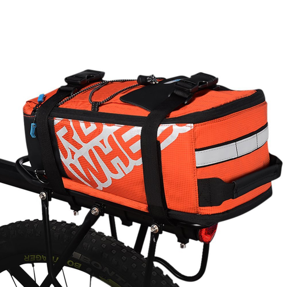 ROSWHEEL Mtb Bike Bicycle Rack Trunk Bag Riding Cycling Back Seat Pannier Mountain Road Bicycle Rear Carrier Carrying Hand Bags multi function aluminum car frame rear cycling bike bicycle rack holder bicyles mount carrier for car