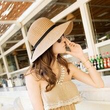 Kajeer moda hermosa adultos de arco de paja sombrero de sol de verano Playa  Sol sombrero chica mujeres sombrero sombreros de Sol. f1a64a67a11