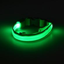 LED Lights Dog Collar Double Sided Luminous Pet Dog Collars for Puppy Glowing Up Night Walking Pet Collars 8 Colors S/M/L/XL