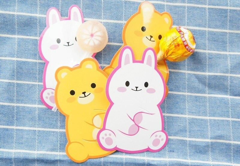 ᗛНовый 50 шт. lollipop крышка Медведь Кролик Дизайн Дети ...