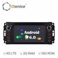 Android 6.0 Quad Core 2GB RAM Car DVD GPS Radio Player For JJeep Commander 2008 2010 Compass 2009 2013 Grand Cherokee 2008 2013