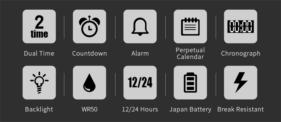 Sports Electronic Watches Men Countdown Double Time Watch Alarm Chrono Digital Wristwatches 50M Waterproof Outdoor Running Watch (2)