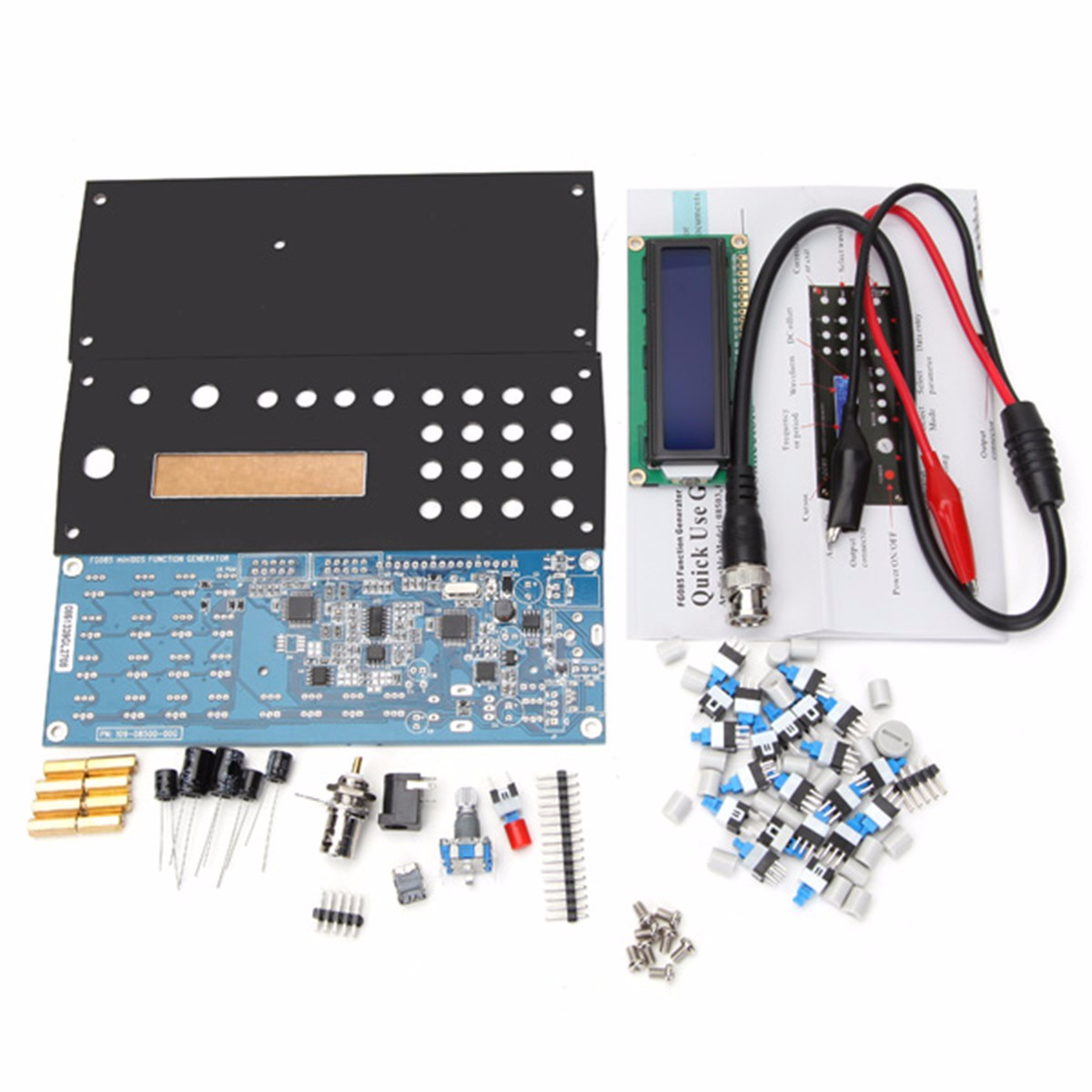 1 Set FG085 DDS Digital Synthesis Function Generator Unassembled DIY Kit With Panel High Quality шины continental contivancontact 100 195 70 r15 104 102r