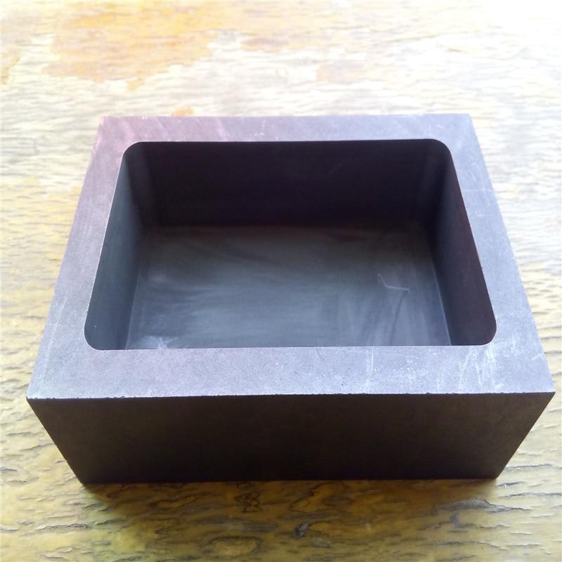цена на 100x100x30mm Square graphite crucible, graphite tank, three high fine grain graphite materials