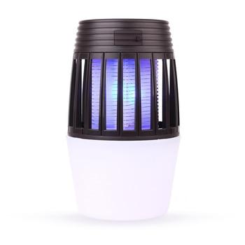 2 In 1 Tragbare Indoor Outdoor Moskito Mörder Lampe Bunte Camping Licht UV USB Lade Fernbedienung Trap Pest Repeller led