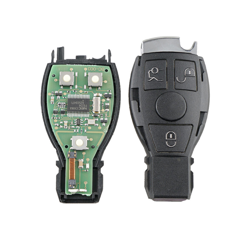 Image 5 - Dzanken3 Buttons Remote Car Key 433Mhz for Mercedes Benz Year 2000+& Transponder Chip& Uncut Blade-in Car Key from Automobiles & Motorcycles