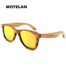 Zebra Wood Sunglasses With Box Handmade Men Fashionable Wooden Glasses UV400 Mirror Polarized Eyewear Male Oculos de sol YZ103