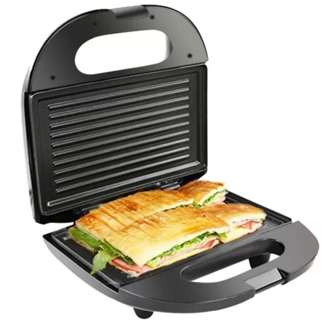 Stainless Steel Home Office Sandwich Maker Machine Toaster with Removable Non-Stick Plate Electric Grill 750W EU Plug 1