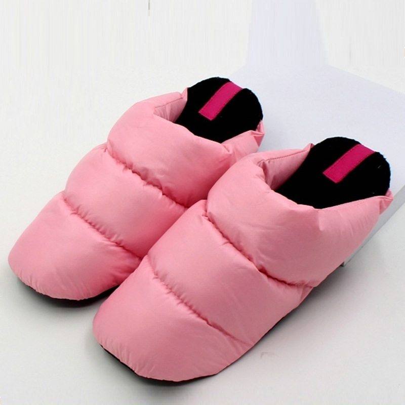 Designer Winter Women Slippers Female Soft Down Warm Plush Slippers Home Floor Bedroom Indoor Female Shoes Zapatos Mujer 2017 barreled flower pattern shoes winter soft bottom indoor home slippers and warm fashion plush bedroom floor slippers women