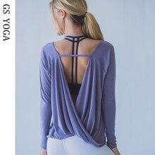 Женские рубашки быстросохнущие Блузы для тренировок спортивные майки с открытой спиной для йоги топы рубашки с длинным рукавом спортивная одежда для бега G-355