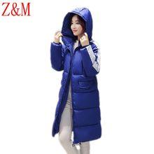 new winter fashion Parka women's Korean long down Splicing jacket cotton students with thicker cotton-padded hooded jacket Coat